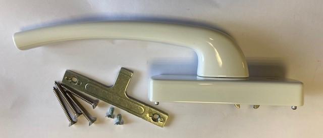 Hautau HKS Hebel - Aufsatzgetriebe 202 AG weiß, rechts