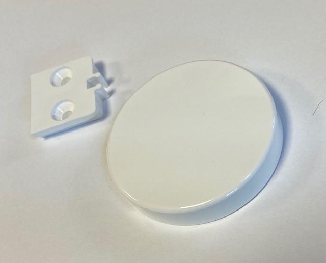 Normbau Ziehgriff weiß, rund