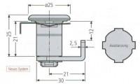 Renz Zylinderschloss ER 97-9-95221