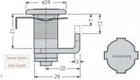 Renz Zylinderschloss 448 97-9-95062